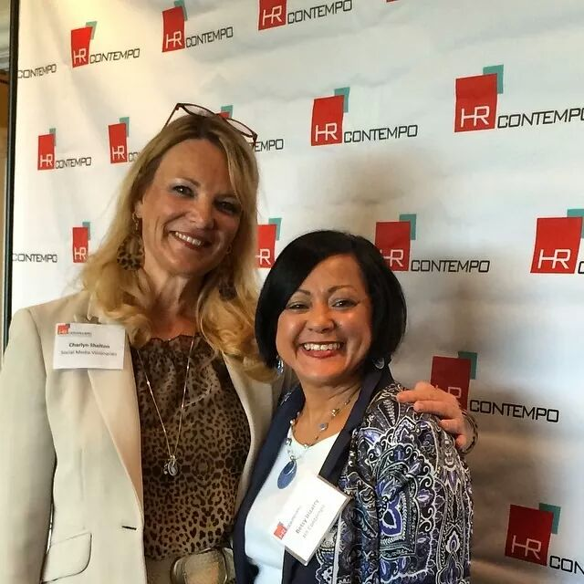 Charlyn Shelton, Social Media Visionaries (left) and Betsy Irizarry, HR Contempo (right)