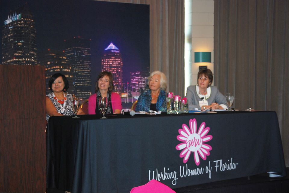 HR Contempo's CEO, Betsy Irizarry, speaking at The Working Women Conference